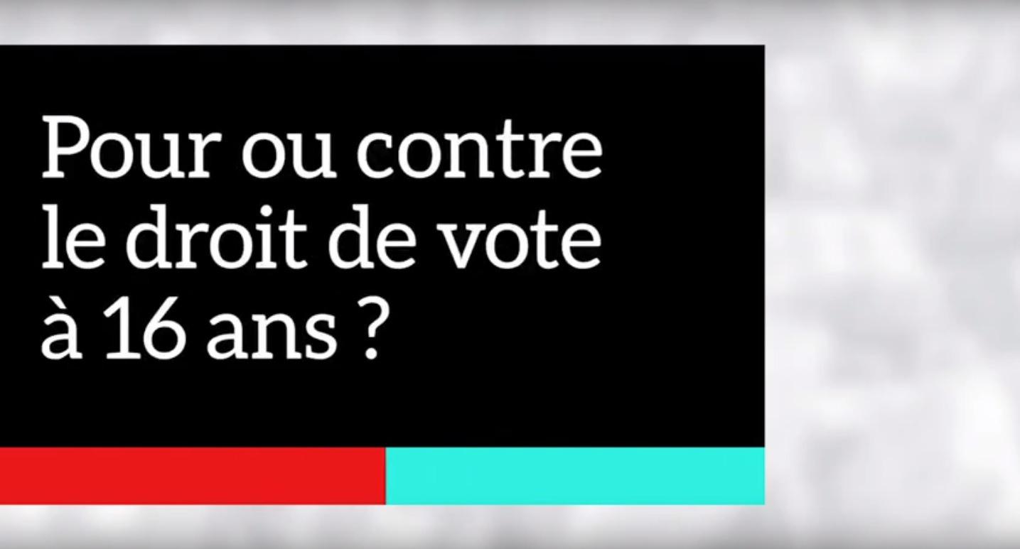 Pour ou contre le droit de vote à 16 ans ?