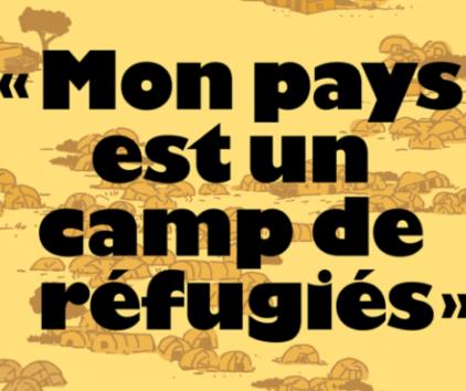 « Mon pays est un camp de réfugiés », le reportage BD de la revue Topo