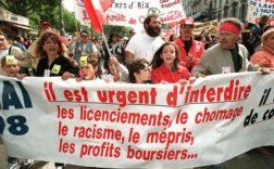 Manifestation de comités de chômeurs à Marseille, le 1er mai 1998. ANNE-CHRISTINE POUJOULAT / AFP