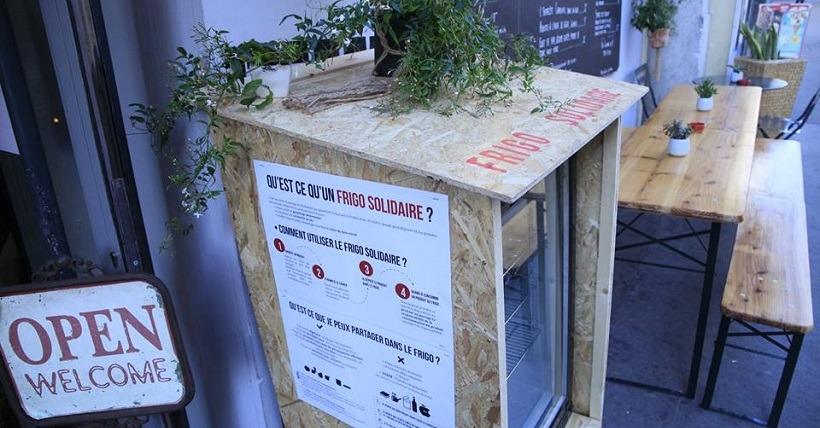 Le premier frigo solidaire parisien à La Cantine du 18. (© Cap ou pas cap ?/Facebook)