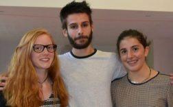 Pauline Fourcade et Mathilde Cansot ont répondu à l'invitation lancée par Xavier Vignaux de participer à ce concours./Photo V.T.