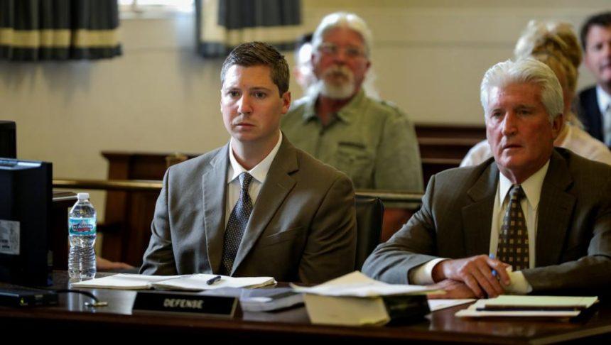 Raymond Tensing lors de son deuxième procès à Cincinnati, le 14 juin 2017. REUTERS/Cara Owsley/The Enquirer/Pool/File Photo