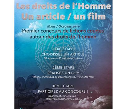 """""""Un article, un film"""", notre concours vidéo inspiré de la Déclaration Universelle des Droits de l'Homme"""