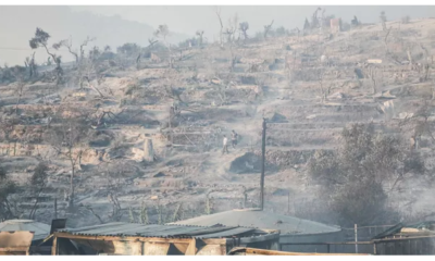 """Incendie dans le camp de réfugiés de l""""île de Lesbos"""