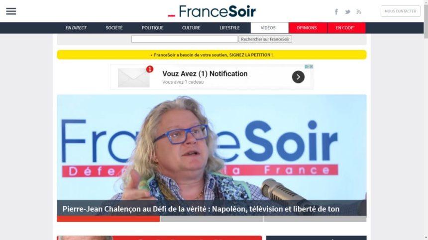 FranceSoir, site complotiste